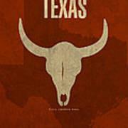 Texas State Facts Minimalist Movie Poster Art  Art Print