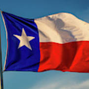 Texas State Flag - Texas Lone Star Flag Art Print