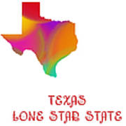 Texas State Map Collection 2 Art Print