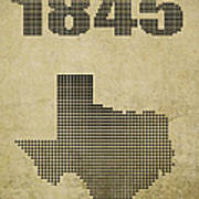 Texas Statehood Art Print