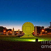 Texas Tech Seal At Night Art Print