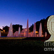 Texas Tech University Seal And Blue Sky Art Print