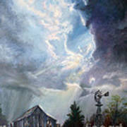 Texas Thunderstorm Art Print