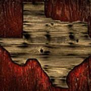 Texas Wood Art Print