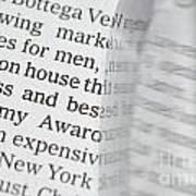 Text And Eyeglasses Art Print