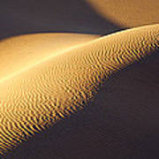Texture Pattern On Sand Dunes Art Print