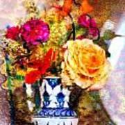 Textured Bouquet Art Print
