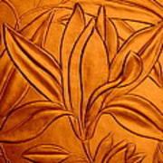 Textured Flower3 Art Print