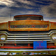 Textured Ford Truck 1 Art Print