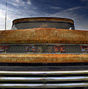 Textured Ford Truck 2 Art Print