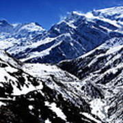 The Annapurna Circuit - The Himalayas Art Print