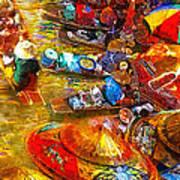 Thai Market Day Art Print