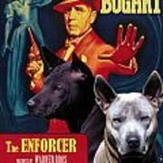 Thai Ridgeback Art Canvas Print - The Enforcer Movie Poster Art Print