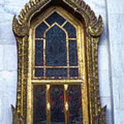 Thai Temple Window Art Print