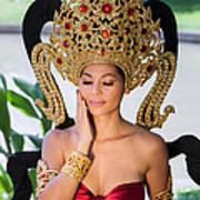 Thai Woman In Traditional Dress Art Print