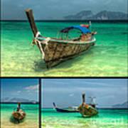 Thailand Longboats Art Print
