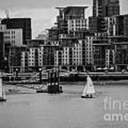 Thames Sailing Art Print