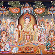 Buddha Art Thangka Art Print