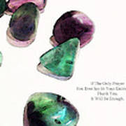 Thank You - Gratitude Rocks By Sharon Cummings Art Print by Sharon Cummings