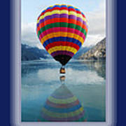 Thank You Hot Air Balloon In Alaska Art Print