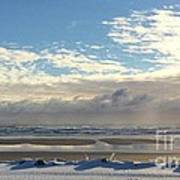 Icy Beach Art Print