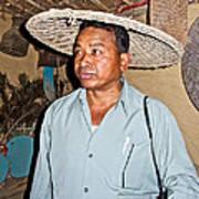 Tharu Chitwan National Park Naturalist In Tharu Village In Nepal  Art Print