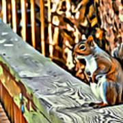 That Squirrel Art Print