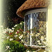Thatched Cottage Window Art Print