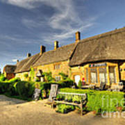 Thatched Cottages At Great Tew  Art Print