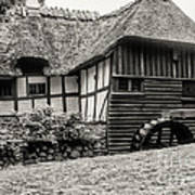 Thatched Watermill 3  Art Print