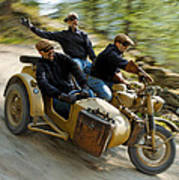 That's The Way To Ride An Army Bmw R75  Art Print