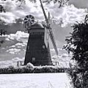 Thaxted Mill In Full Sail Art Print
