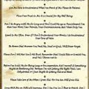 The 10 Commandments  For Pets  Antique Marble Art Print