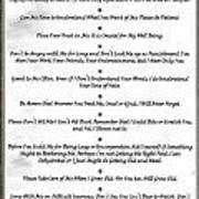 The 10 Commandments For Pets On Black Marble Art Print