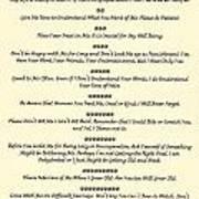 The 10 Commandments For Pets On Old Parchment Art Print