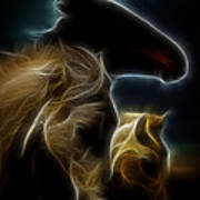The 3 Shadow Horses Art Print