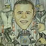 The 44th President And The Media Art Print