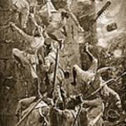The 5th Division Storming By Escalade Art Print