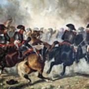 The 8th Napoleonic Cavalry Regiment Charging Into Battle  Art Print