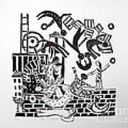 The Acrobats Art Print by Barbara Sala
