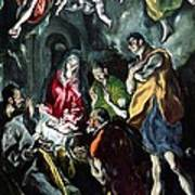 The Adoration Of The Shepherds From The Santo Domingo El Antiguo Altarpiece Art Print
