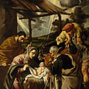 The Adoration Of The Shepherds Art Print