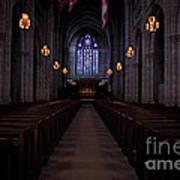 The Aisle Of Princeton Chapel Art Print