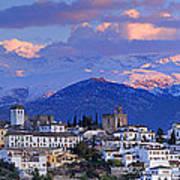 The Alhambra And Granada Art Print