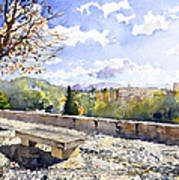 The Alhambra In Autumn Art Print