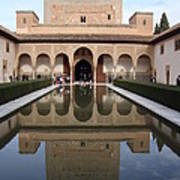 The Alhambra Palace Reflecting Pool Art Print