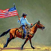 The All American Cowboy Art Print