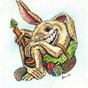 The Altered Easter Bunny Art Print