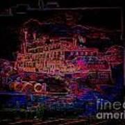 The Alton Belle In Neon Framed Art Print