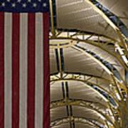 The American Flag At Reagan Airport Art Print